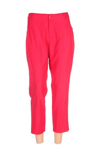 skunkfunk pantalons et decontractes femme de couleur rouge