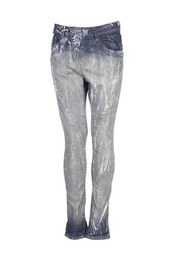 please jeans femme de couleur gris