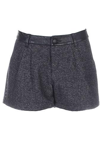 ikks shorts / bermudas femme de couleur gris