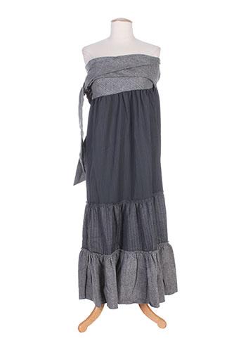 zoe la fee robes femme de couleur gris