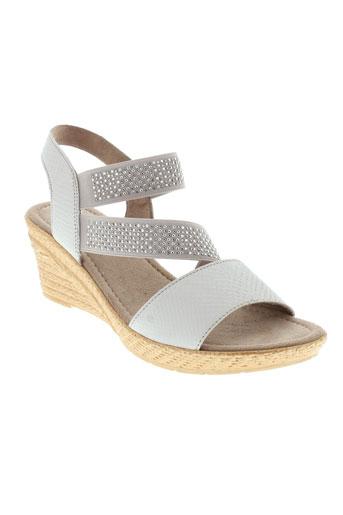 jana escarpins femme de couleur gris