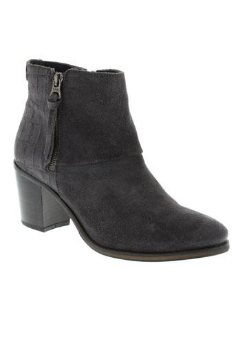 tommy et hilfiger boots femme de couleur gris