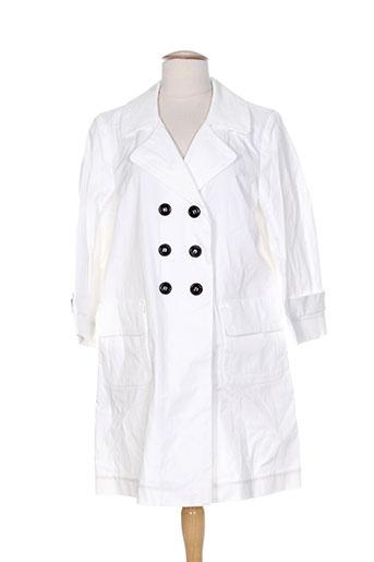 pablo gerard darel manteaux femme de couleur blanc