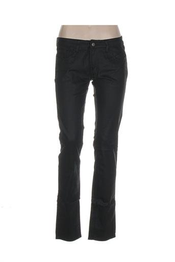 denimood pantalons femme de couleur noir