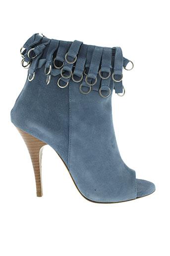 balmain sandales et nu et pieds femme de couleur bleu