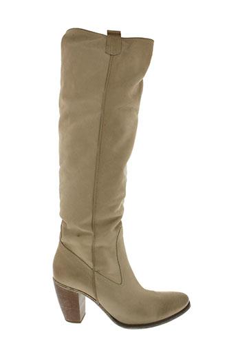 gaia d'este chaussures femme de couleur beige