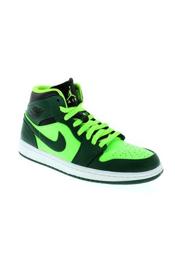 jordan baskets homme de couleur vert