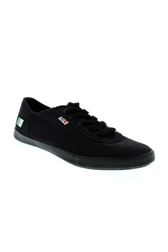 my flag chaussures femme de couleur noir