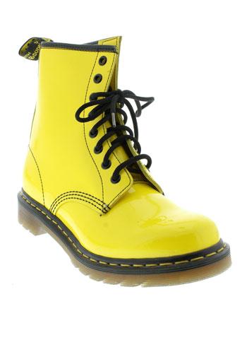 dr et martens boots femme de couleur jaune