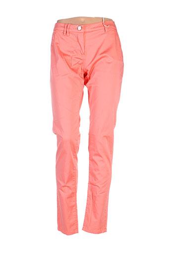 gaudi pantalons et decontractes femme de couleur orange