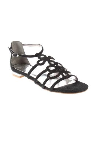 carma sandales et nu et pieds femme de couleur noir