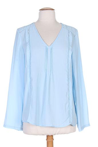 just addict chemises femme de couleur bleu