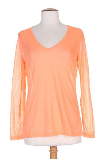 co2 t-shirts femme de couleur orange