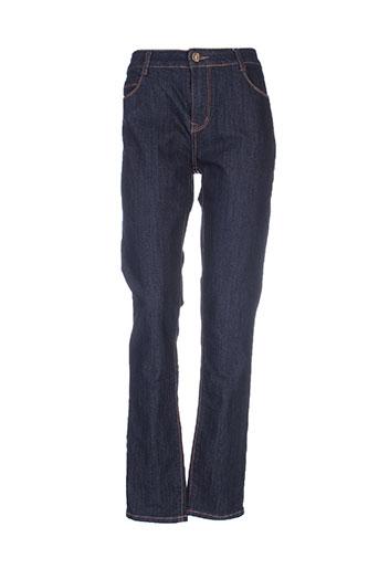 cindy.h jeans femme de couleur bleu