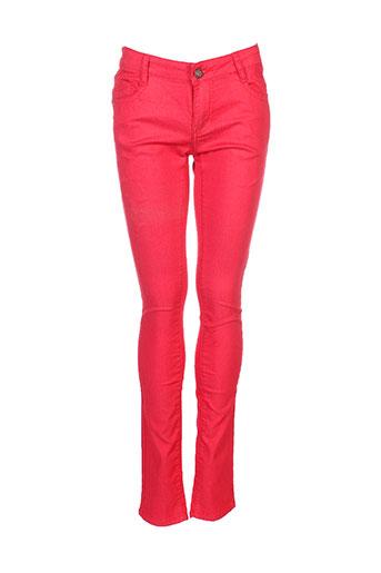 edefa jeans pantalons fille de couleur rouge