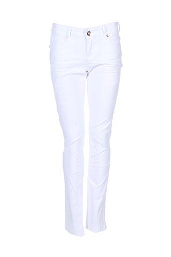 edefa jeans pantalons fille de couleur blanc