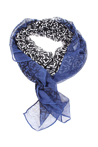 betty et barclay foulards femme de couleur bleu