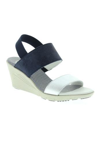 tbs sandales et nu et pieds femme de couleur bleu