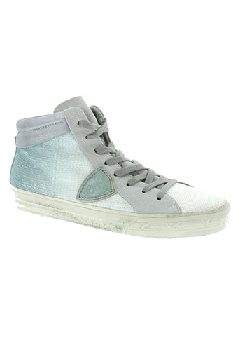 philippe model chaussures femme de couleur bleu