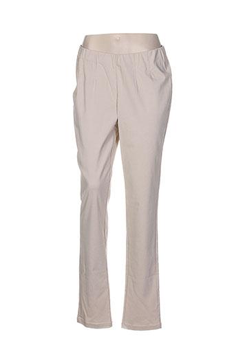 ciso pantalons et decontractes femme de couleur beige