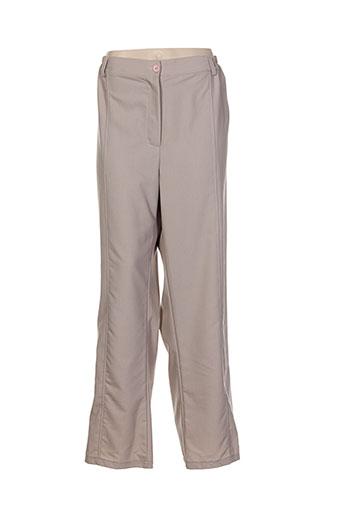 Pantalon chic marron CLIN D'OEIL pour femme