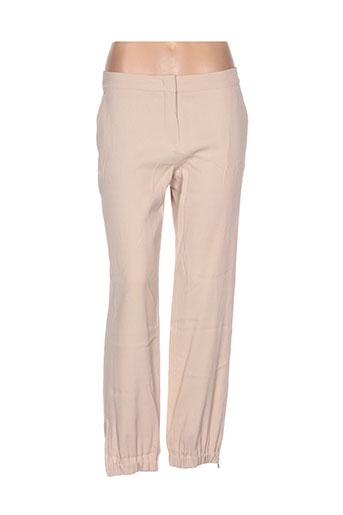 maxmara pantalons femme de couleur chair