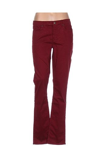 gant pantalons femme de couleur rouge