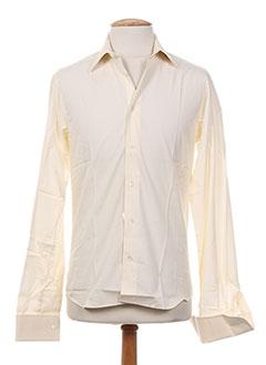 Chemise manches longues jaune ALAIN GAUTHIER pour homme