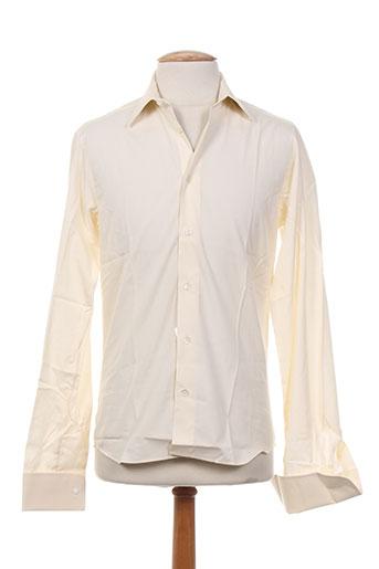 alain gauthier chemises homme de couleur jaune