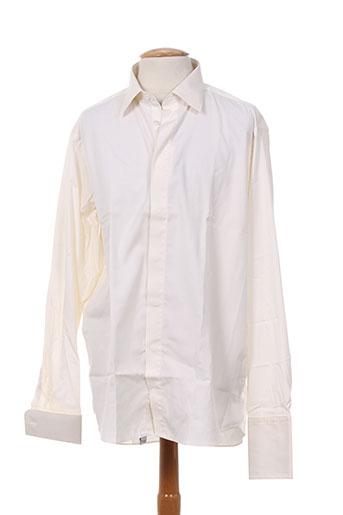 alain gauthier chemises homme de couleur beige
