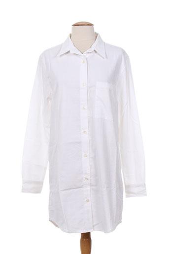 edwin chemises femme de couleur blanc