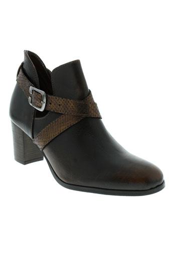 ayame boots femme de couleur marron