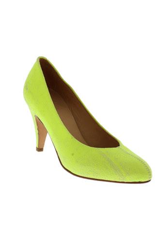 atelier et do et sapato escarpins femme de couleur jaune