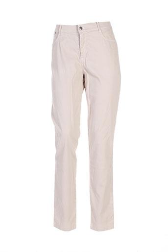 diplodocus pantalons femme de couleur beige