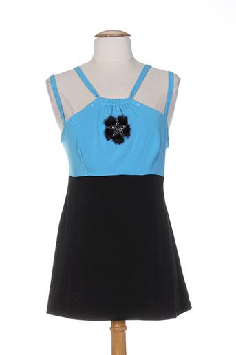 bleu d'azur chemises femme de couleur bleu