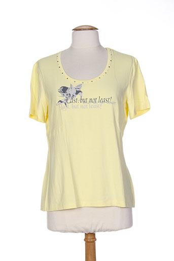 frank walder t-shirts femme de couleur jaune