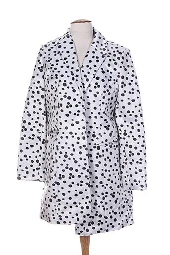 morgan manteaux femme de couleur blanc