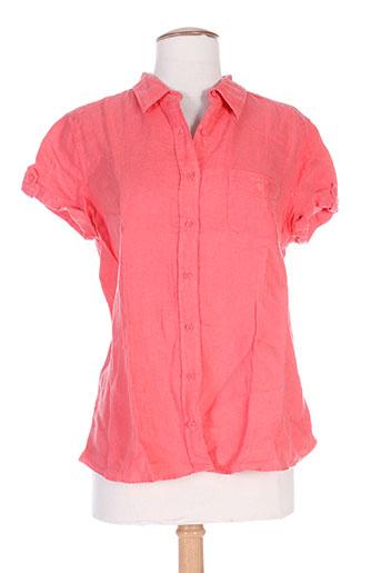 gant chemises femme de couleur rouge