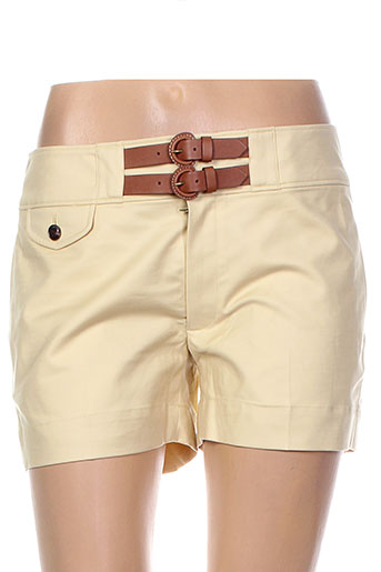 ralph lauren shorts / bermudas femme de couleur jaune
