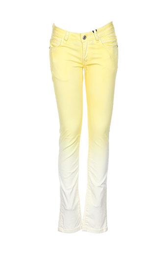 dkny jeans fille de couleur jaune
