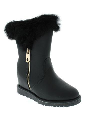top et shoes boots femme de couleur noir