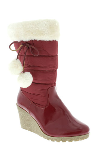 top et or bottes femme de couleur rouge