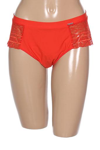 implicite slips et culottes femme de couleur orange