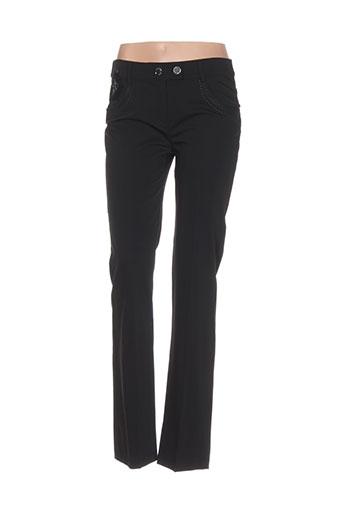 lasagrada pantalons femme de couleur noir
