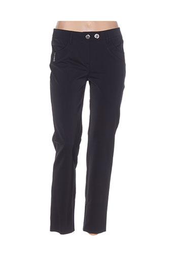 lasagrada pantalons femme de couleur bleu