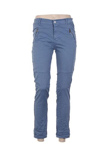 giulia notte pantalons femme de couleur bleu