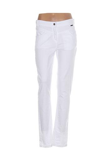 mae et mahe pantalons et decontractes femme de couleur blanc