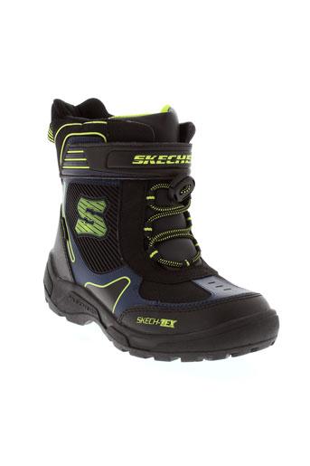 skechers boots garcon de couleur noir
