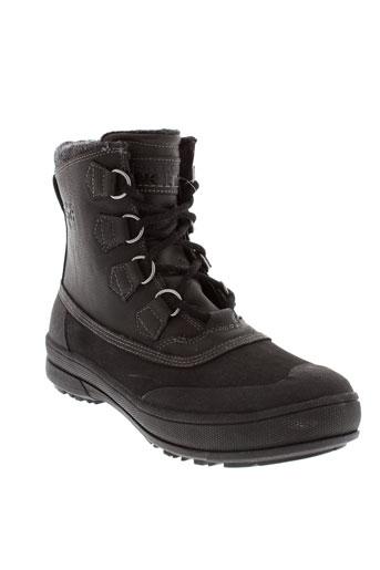 skechers boots homme de couleur noir
