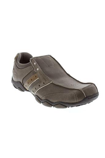 skechers chaussures femme de couleur marron